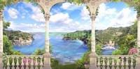 Терраса с видом на большое озеро