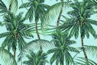 Пальмы на голубом фоне