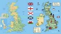 Карта  достопримечательностей Англии