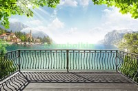 Терраса у голубого озера