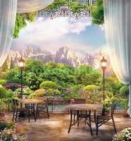 Кафе с видом на горы