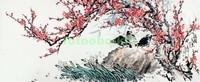 Сакура камень и птицы