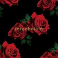 3D розы на черном фоне