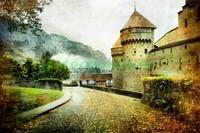 Пейзаж с замком