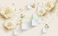 3D бежевые розы