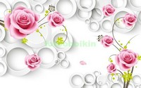 3D розы с кругами