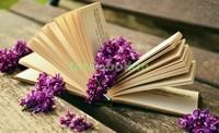 Книга с цветами лаванды
