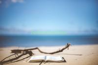 Книга на пляже