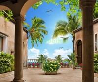 Двор с колоннами