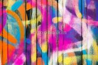 Линнии на стене граффити