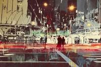 Абстракция город