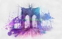Бруклинский мост абстракция