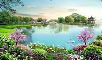 Сад у озера