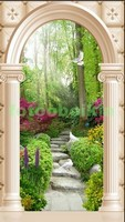 Арка колонны в саду