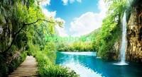 Тропинка с видом на водопад
