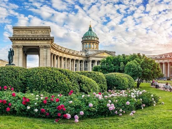 Казанский собор в цветах