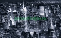 Черно белая фотография с Нью-Йорком