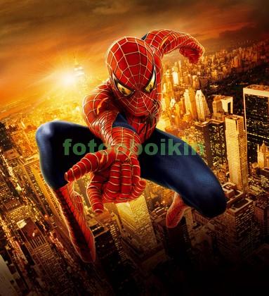 Человек паук на лету