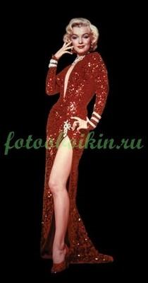 Мерлин Монро в красном платье