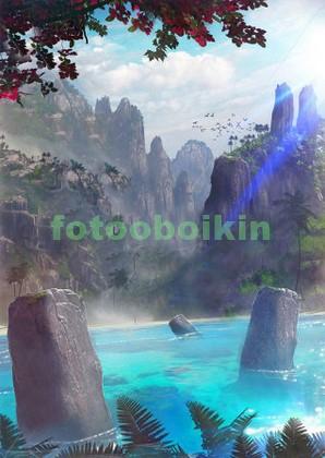 Каменные глыбы в море