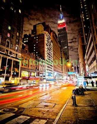 Улица в центре Нью-Йорка