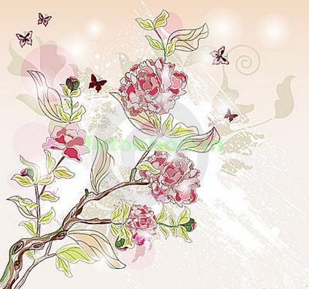 Цветочки на ветке