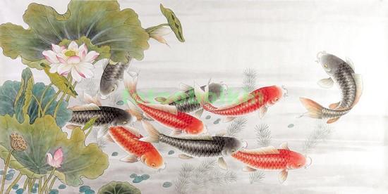 Рыбки в пруду