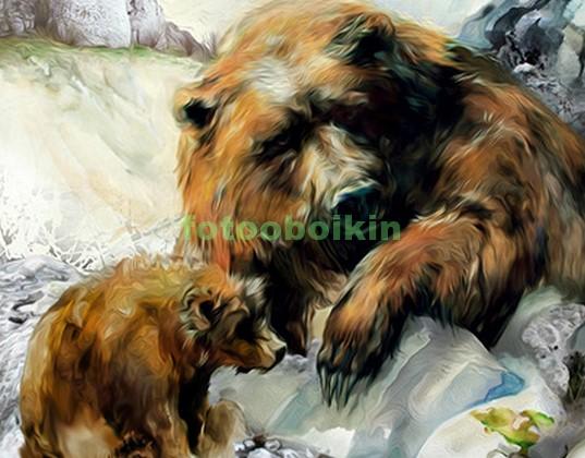 Медведица с медвеженком