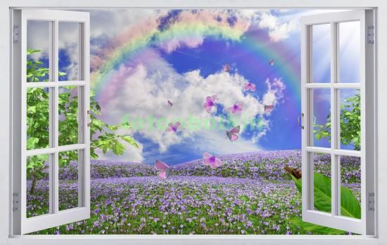 Сиреневые цветы на поляне
