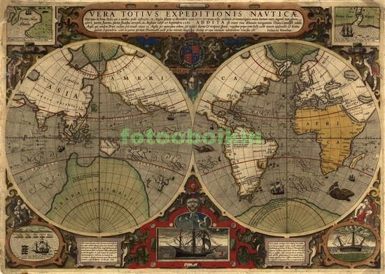 Карта мира 1752