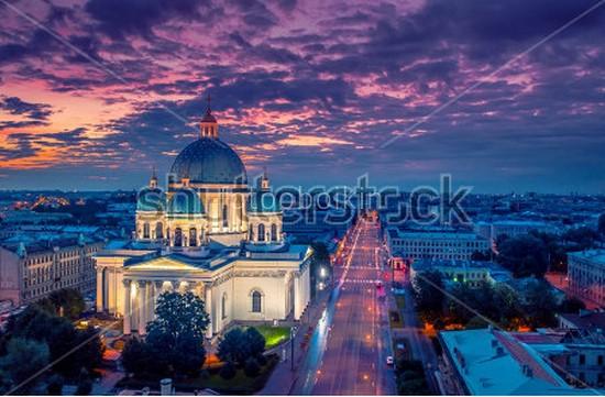 Троице-Измайловский собор ночью