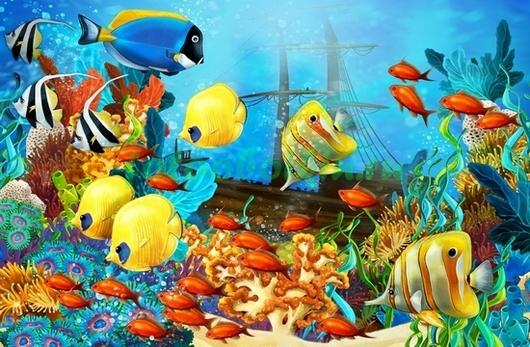 Рыбки у затонувшего корабля