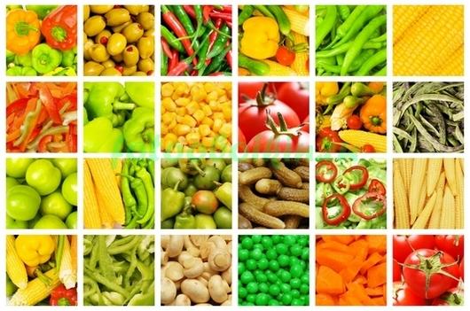 Коллаж с овощами