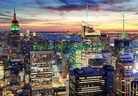 Фотообои Прекрасный закат в Нью-Йорке