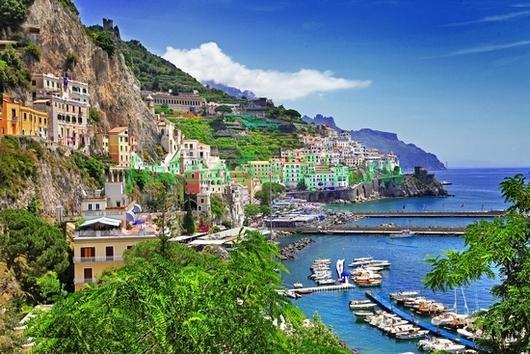 Италия вид с гор на море