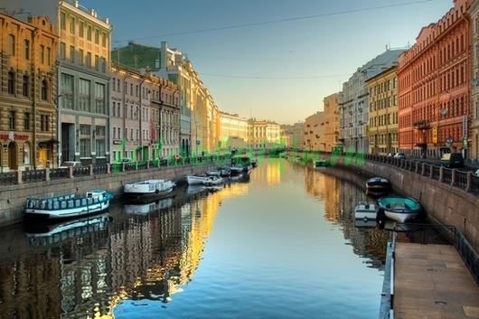 Фотообои Прогулка на катере по Санкт-Петербургу