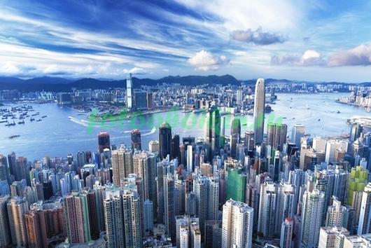 Фотообои Гон Конг небоскребы