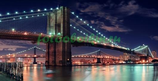 Бруклинский мост в огнях