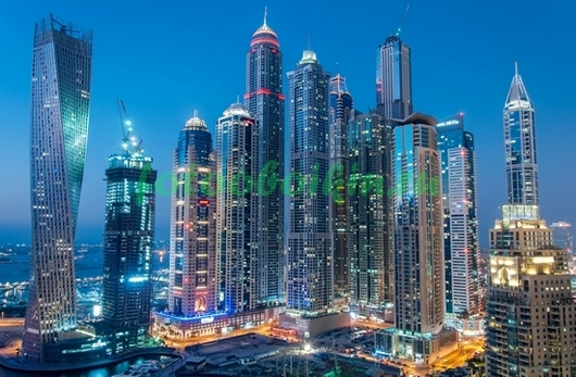 Небоскребы города Дубай