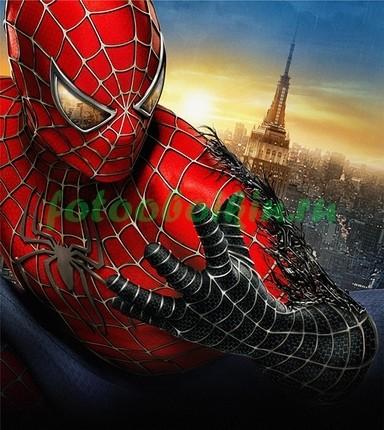 Фотообои Человек-паук на фоне города