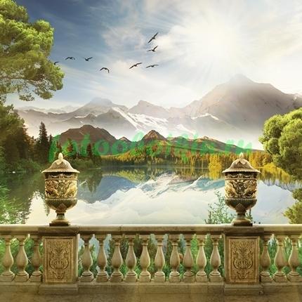 Терраса около озера