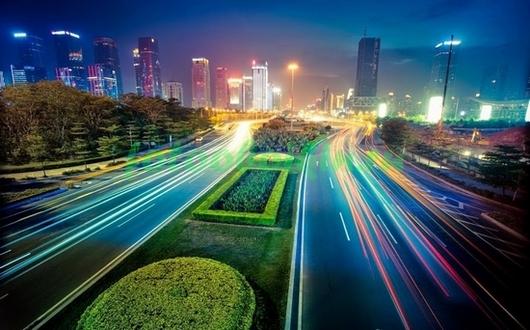 Фотообои Ночной трафик