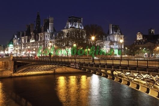 Фотообои Ночной мост в Париже