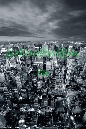 Фотообои Нью-Йорк сверху