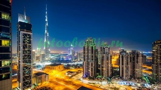 Ночной Дубай