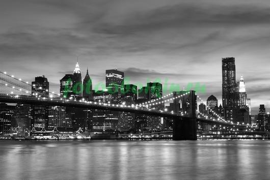 Фотообои Черно белое фото Бруклинского моста