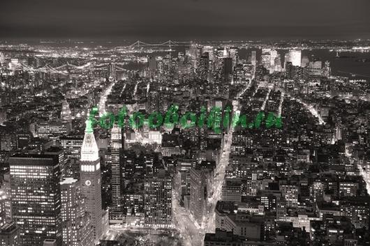 Фотообои Черный город Манхеттен