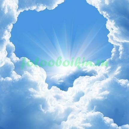 Фотообои Солнце в облаках