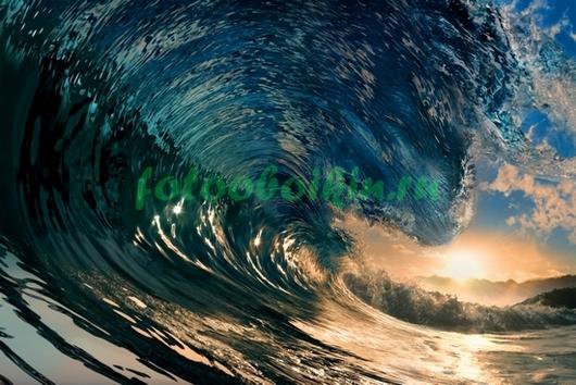Закат и волна