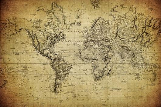 Фотообои Карта начало 20 века